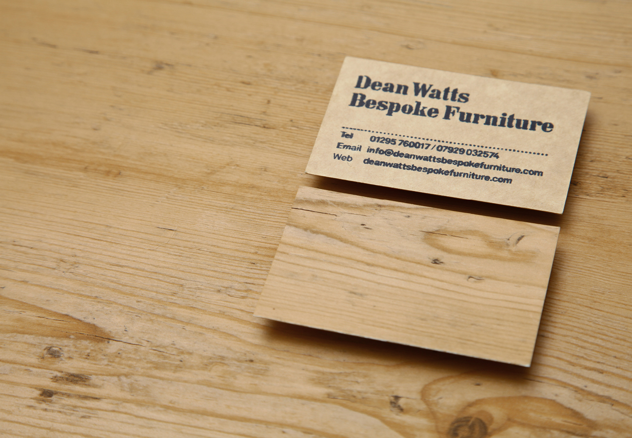 Dean watts bespoke furniture tom crawshaw business cards colourmoves
